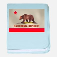 California Bear Flag baby blanket