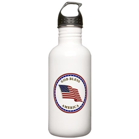 God Bless America Stainless Water Bottle 1.0L
