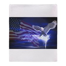 Eagle Storm Throw Blanket