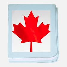 Canadian Maple Leaf baby blanket
