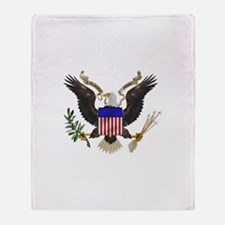 Great Seal Eagle Throw Blanket