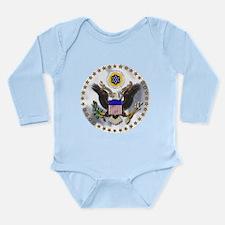 Unique Patriotic eagle Long Sleeve Infant Bodysuit