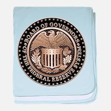 Federal Reserve baby blanket