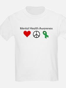 love, peace, awareness T-Shirt