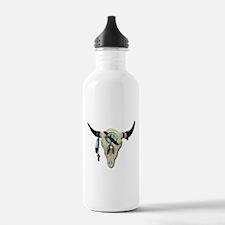 Steer Skull Water Bottle