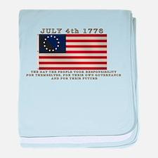 July 4th Flag baby blanket