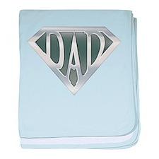 Super Dad baby blanket