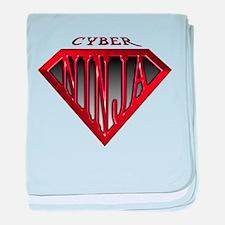 Cyber-Ninja(Red) baby blanket