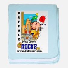 Buffalo New York Rocks baby blanket
