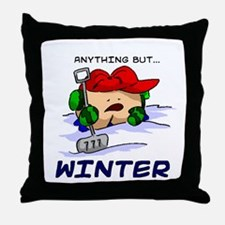 Anything But... Winter Throw Pillow