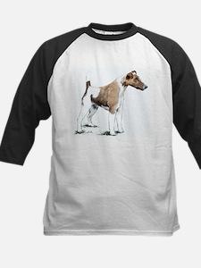 Fox Terrier Kids Baseball Jersey