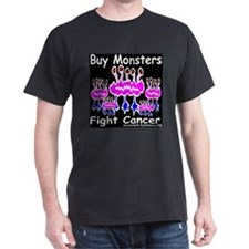 Five Green Monsters Fight Cancer T-Shirt