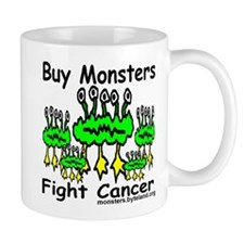 Five Green Monsters Fight Cancer Mug