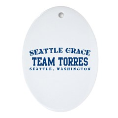 Team Torres - Seattle Grace Ornament (Oval)