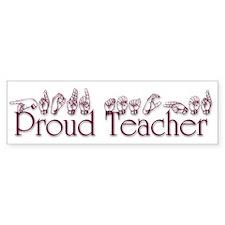 Proud Teacher Bumper Sticker