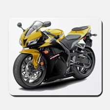 CBR 600 Yellow-Black Bike Mousepad