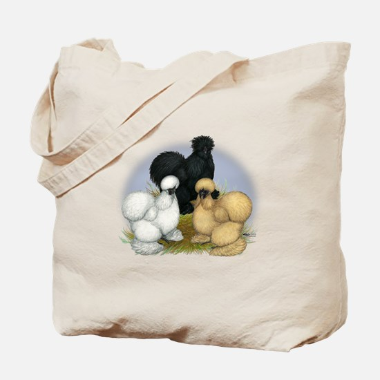 Silkie Chicken Trio Tote Bag