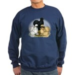 Silkie Chicken Trio Sweatshirt (dark)