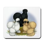 Silkie Chicken Trio Mousepad
