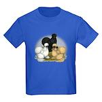 Silkie Chicken Trio Kids Dark T-Shirt