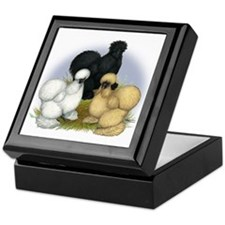 Silkie Chicken Trio Keepsake Box