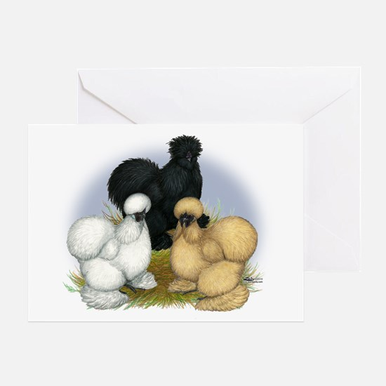 Silkie Chicken Trio Greeting Card