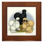 Silkie Chicken Trio Framed Tile