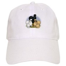 Silkie Chicken Trio Baseball Cap