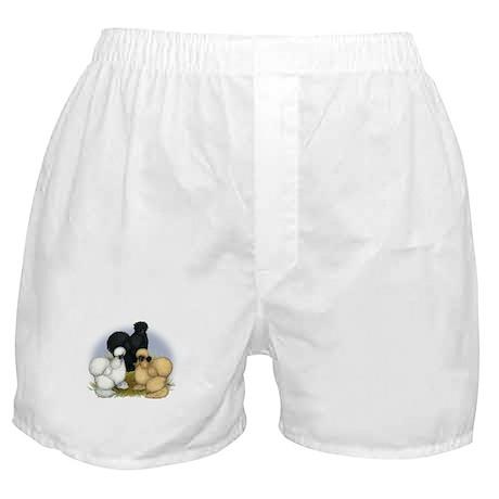 Silkie Chicken Trio Boxer Shorts