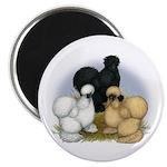 """Silkie Chicken Trio 2.25"""" Magnet (100 pack)"""