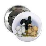 """Silkie Chicken Trio 2.25"""" Button (100 pack)"""