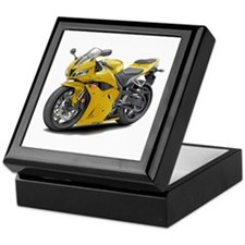 CBR 600 Yellow Bike Keepsake Box