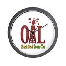 Oil, Black Gold, Texas Tea Wall Clock