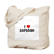 I * Softball Tote Bag