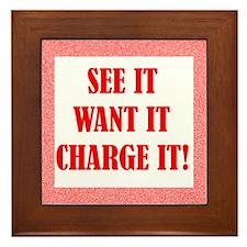 Charge It Framed Tile