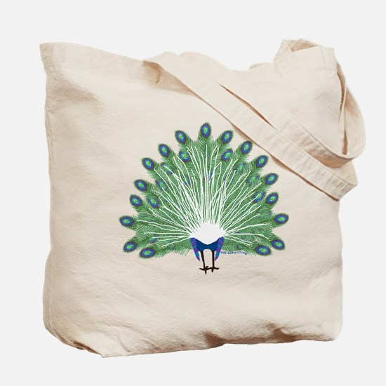 Peacock Front and Back Tote Bag