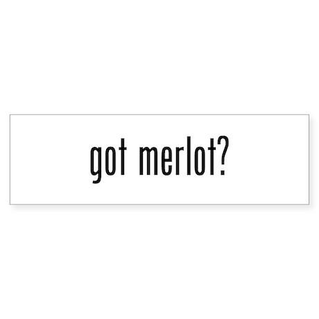 Got Merlot Sticker (Bumper)