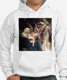 Funny Bouguereau the virgin with angels Hoodie
