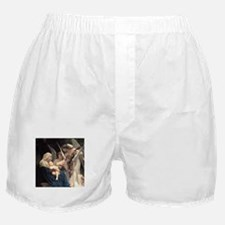 Cute Bouguereau the virgin with angels Boxer Shorts