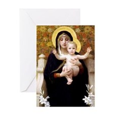 virginofliliesbouguereau Greeting Cards
