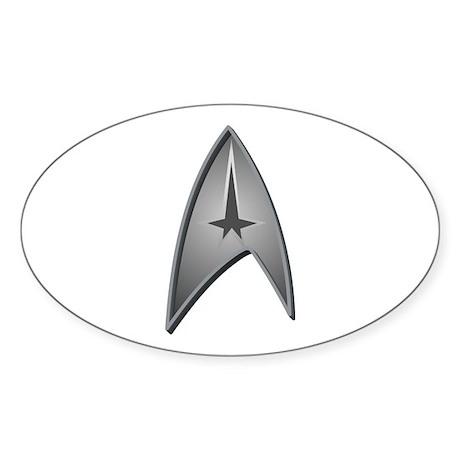 Star Trek Logo silver Sticker (Oval)