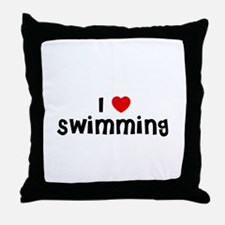 I * Swimming Throw Pillow