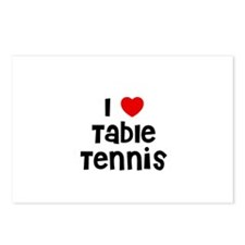 I * Table Tennis Postcards (Package of 8)