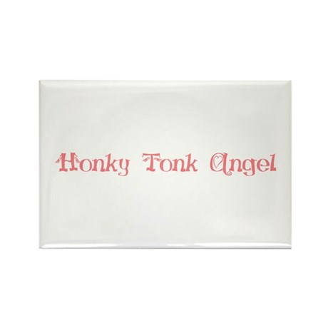 Honky Tonk Angel Rectangle Magnet (100 pack)