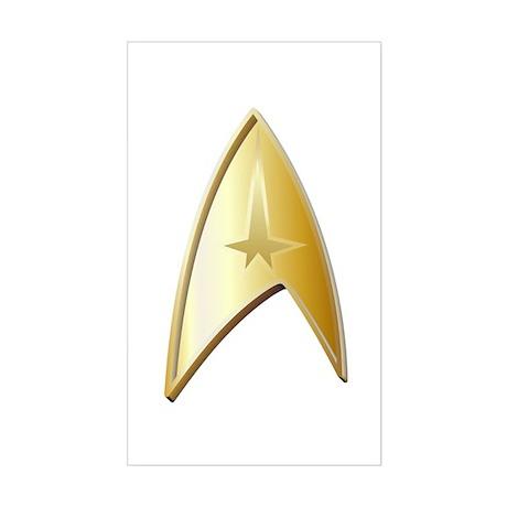 Star Trek Logo gold Sticker (Rectangle)
