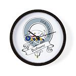 Bethune Clan Badge Wall Clock