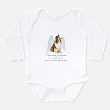 Sheltie Angel Long Sleeve Infant Bodysuit