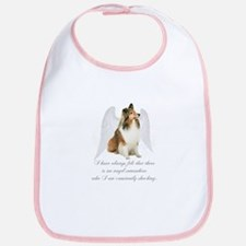 Sheltie Angel Bib