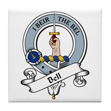 Bell Clan Badge Tile Coaster