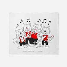 Chorus Singing Cats Throw Blanket